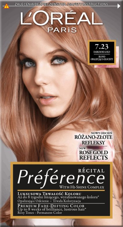 L'Oreal Paris Recital Preference Hair dye 7.23 Rich Rose