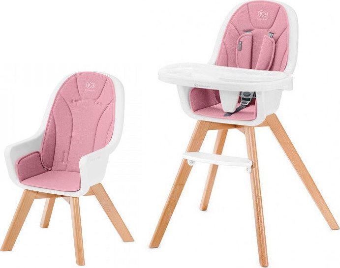 KinderKraft krzeselko do karmienia TIXI pink GXP-709336 bērnu barošanas krēsls