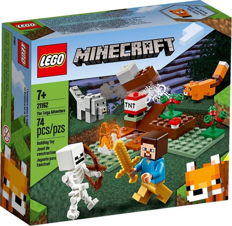 LEGO Minecraft 21162 The Taiga Adventure LEGO konstruktors