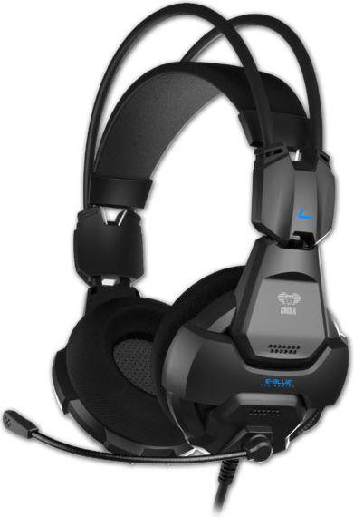 E-Blue Cobra 926 Pro Gaming Spēļu Austiņas ar Mikrofonu / 3.5mm / 2.2m Vads / Melnas austiņas