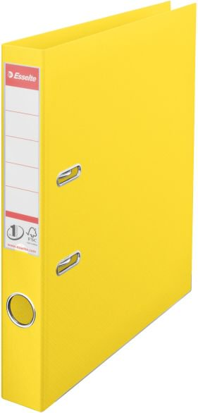 Esselte No. 1 Vivida Lever Arch File A4 50mm Yellow (10K004M)