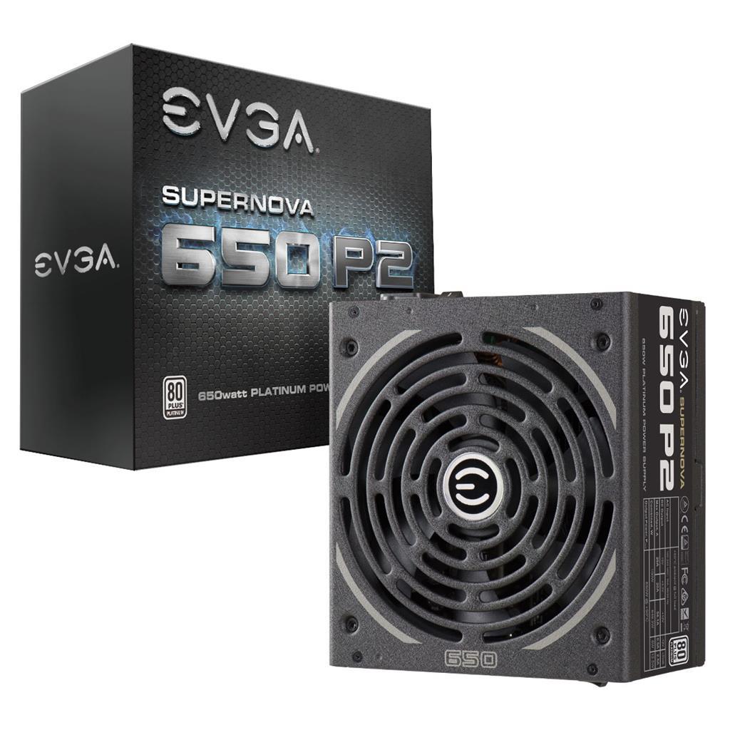 EVGA SuperNOVA 650 P2 650W, 80 PLUS Platinum, Full modular, 140mm, 10YLW Barošanas bloks, PSU
