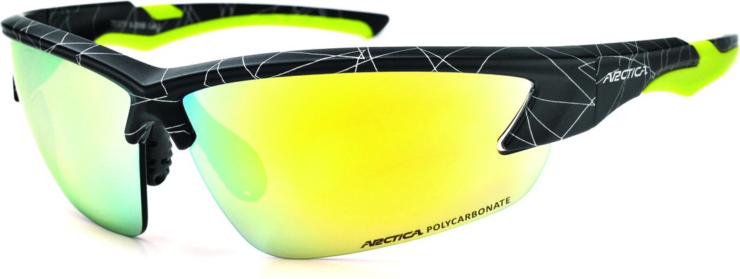 Arctica Sports Glasses, black and yellow size. uniw (S-255B)