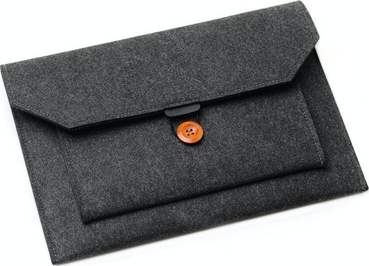 Alogy case Universal felt Alogy case for MacBook Air / Pro 13 laptops Dark gray universal portatīvo datoru soma, apvalks