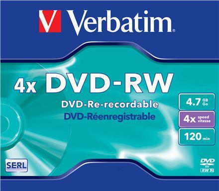 Verbatim DVD-RW 4.7GB 4X MATT SILVER jewel box - 43285 matricas
