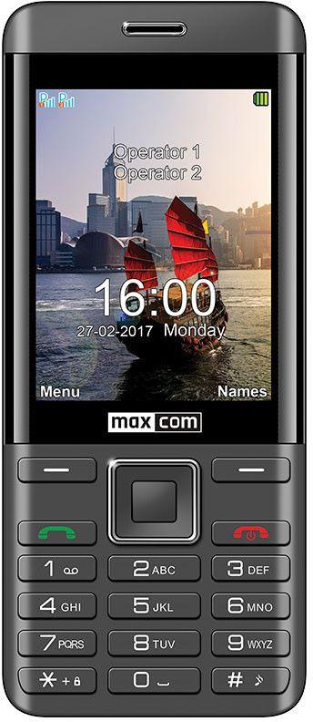 Maxcom MM 236 BLACK-SILVER DUAL SIM Mobilais Telefons