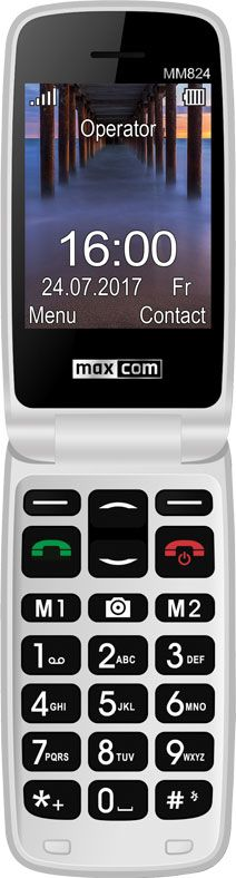 Maxcom MM824BB RED Poliphone/Big button Mobilais Telefons
