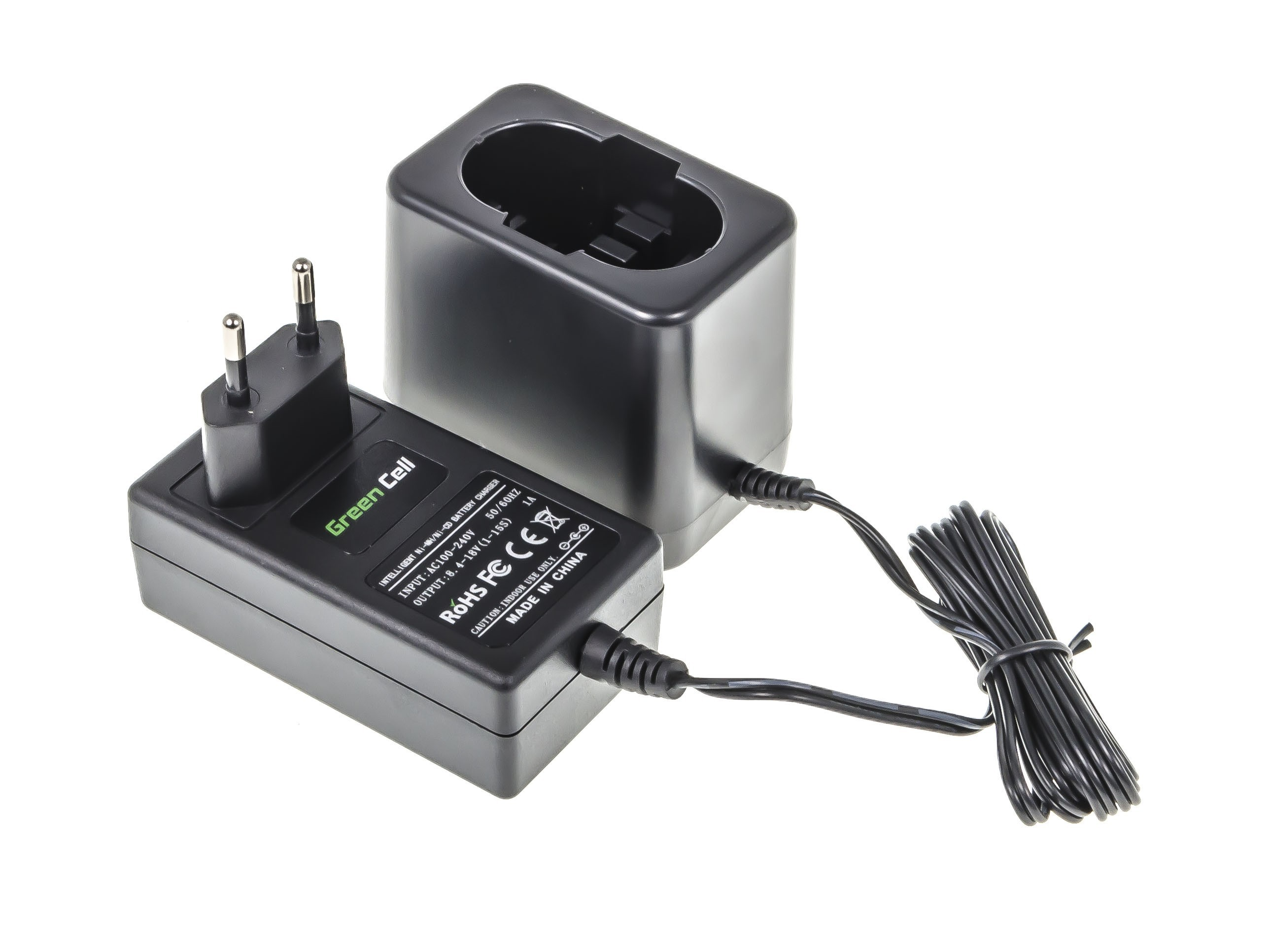 Green Cell  Registered  Power Tool Battery Charger for Bosch 8.4V -18V Ni-MH Ni-Cd