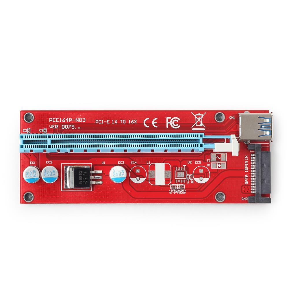 Gembird PCI Express Riser Card (SATA power connector) karte