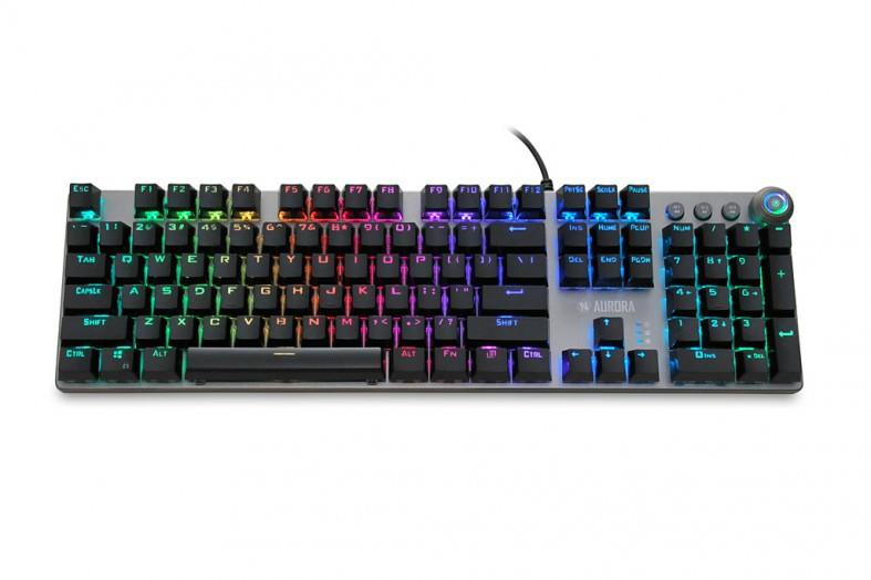 IBOX AURORA K-4 RGB IKGMK4 (USB; (US); black color) klaviatūra