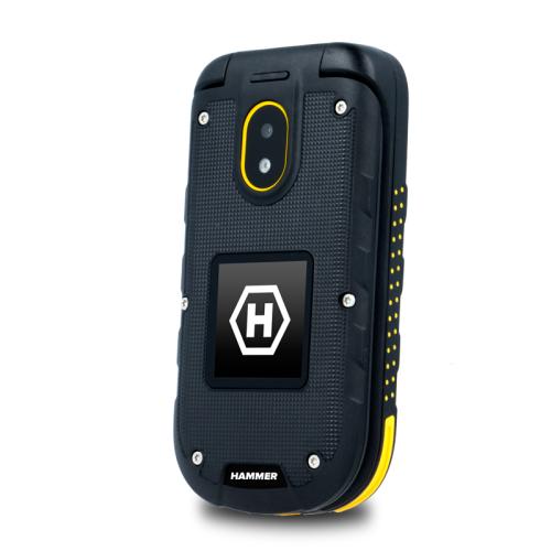 MyPhone HAMMER BOW + Dual Sim black/orange Mobilais Telefons