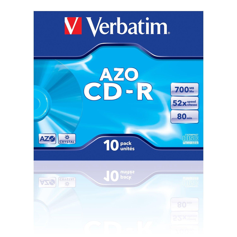 Verbatim CD-R 80/700MB 52X AZO CRYSTAL jewel box - 43327 matricas