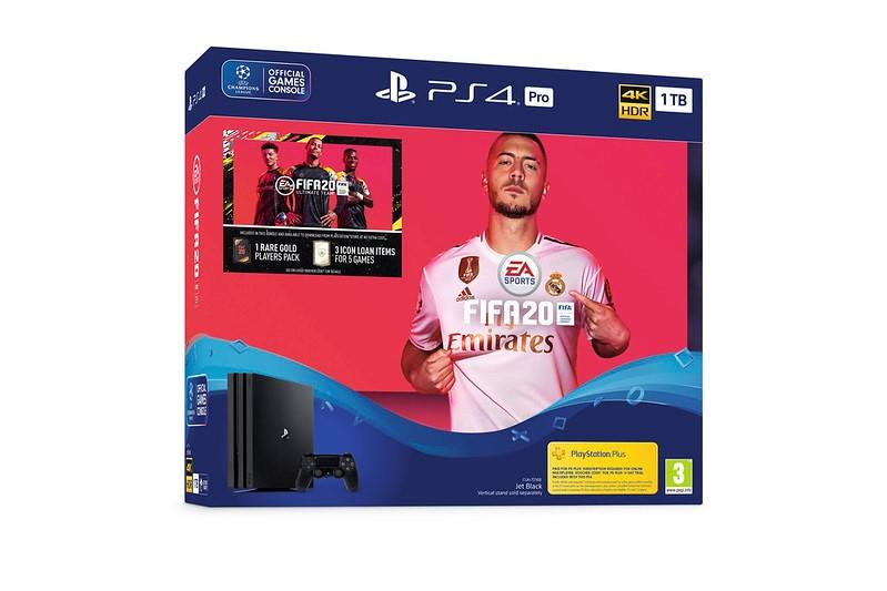 Sony Playstation PS 4 PRO 1TB Console Black FIFA 20 Bundle spēļu konsole