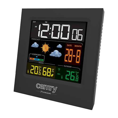 Camry Weather station CR 1166 Black, Date display barometrs, termometrs