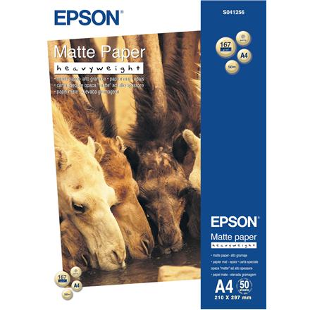 Epson Matte Paper DIN A4, 167g/m2, 50 sheets foto papīrs
