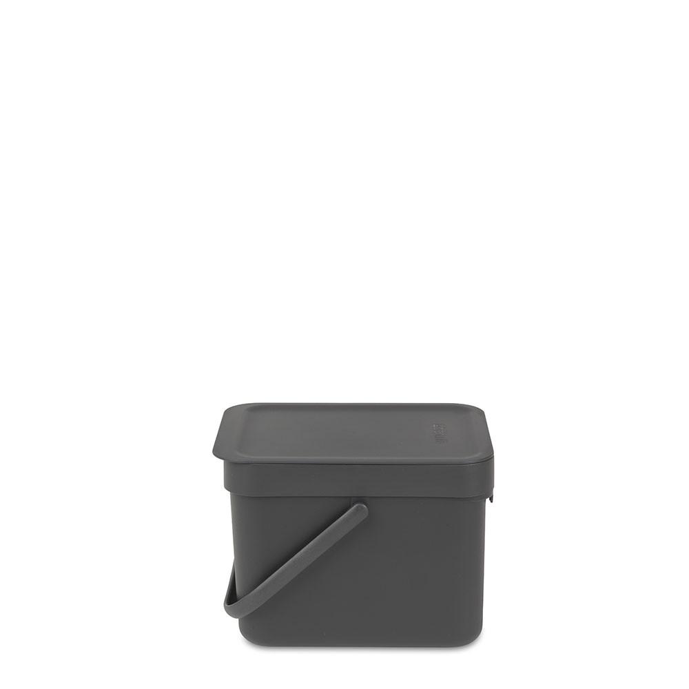 BRABANTIA atkritumu tvertne Sort & Go, 6 l, grey 109720 atkritumu tvertne