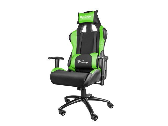 Genesis Gaming Nitro 550 Black/Green 5901969407426 datorkrēsls, spēļukrēsls