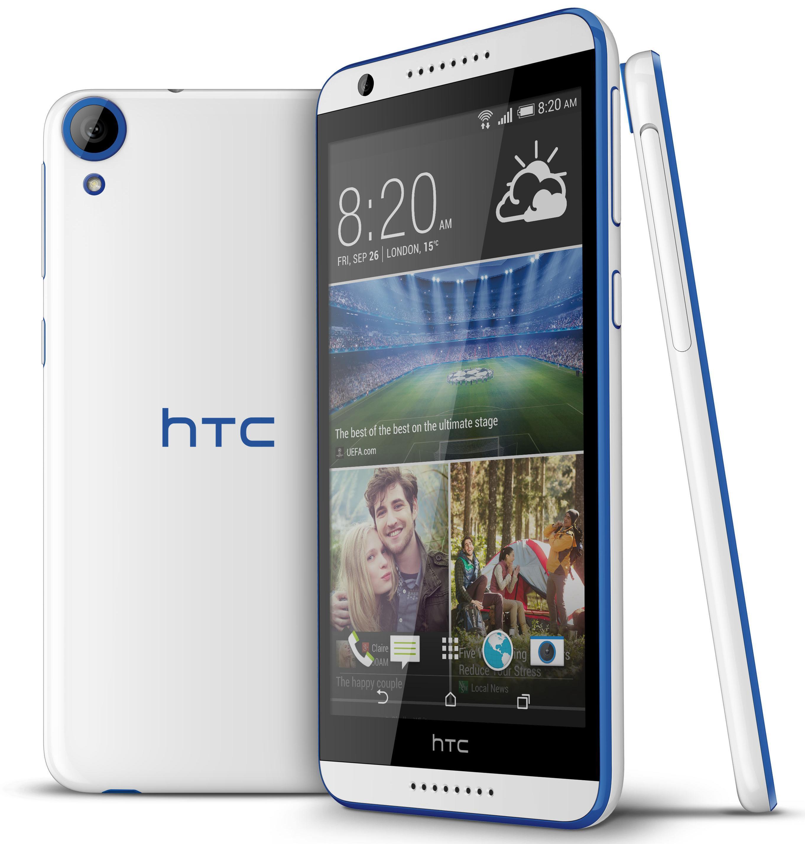 HTC D820ts Desire 820s dual sim white/blue Used (grade:C) 9902941028987 T-MLX11022 Mobilais Telefons