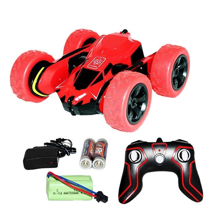 HB-NB2801 R/C 1:28 Scale 2.4GHz Super Stunt Car Red Radiovadāmā rotaļlieta