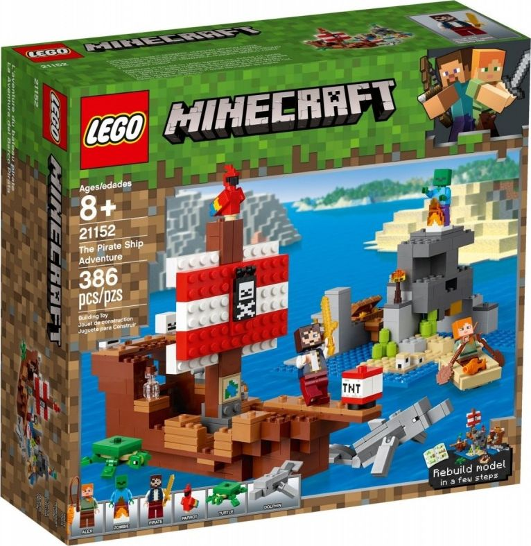 LEGO 21152 Minecraft The pirate ship adventure LEGO konstruktors