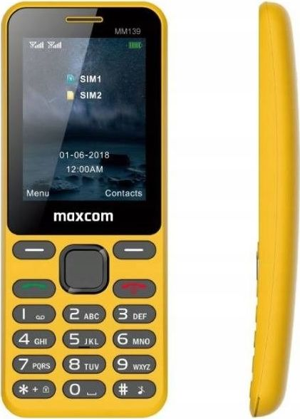 Mobile phone MM 139 DS Yellow Mobilais Telefons