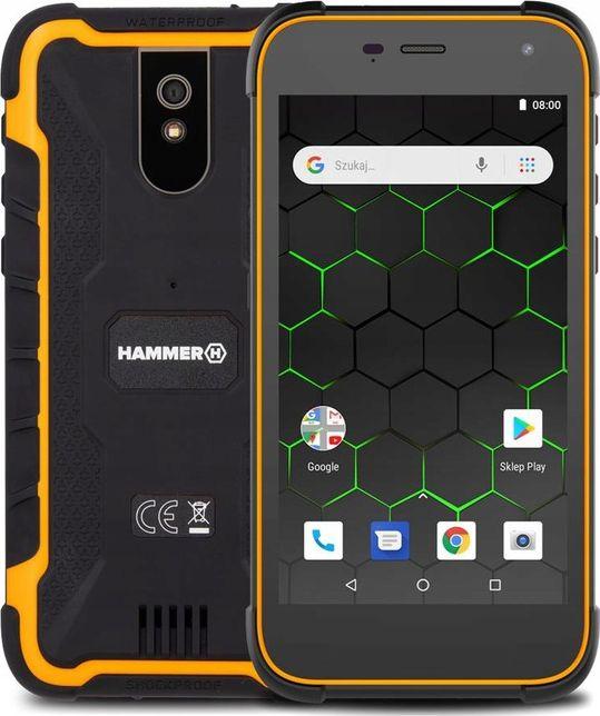 Smartfon myPhone Hammer Active 2 1/8GB Dual SIM Czarno-pomaranczowy  (Hammer Active 2 LTE) Hammer Active 2 LTE Mobilais Telefons