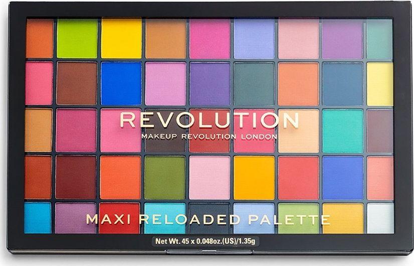 Makeup Revolution Maxi Reloaded Palette Monster Mattes, 1 pcs. ēnas