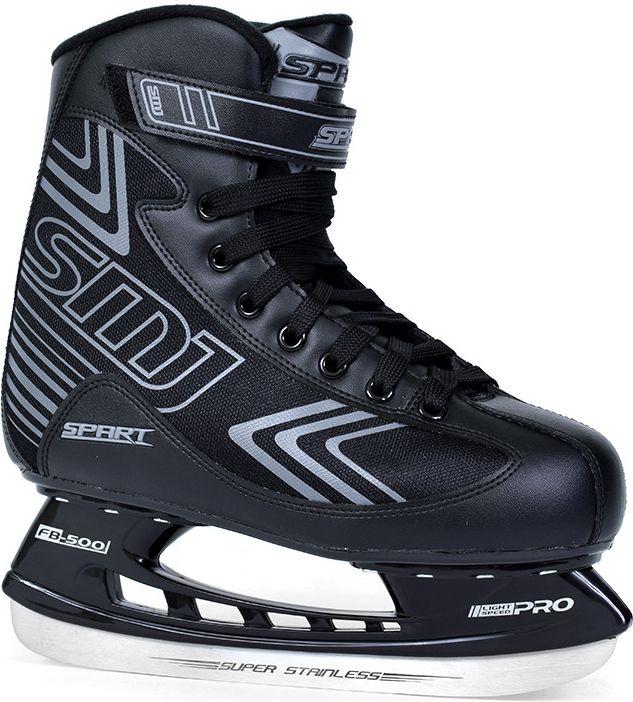 SMJ sport Lyzwy hokejowe Spart czarne r. 46 (8966) 8966 Slidošanas un hokeja piederumi