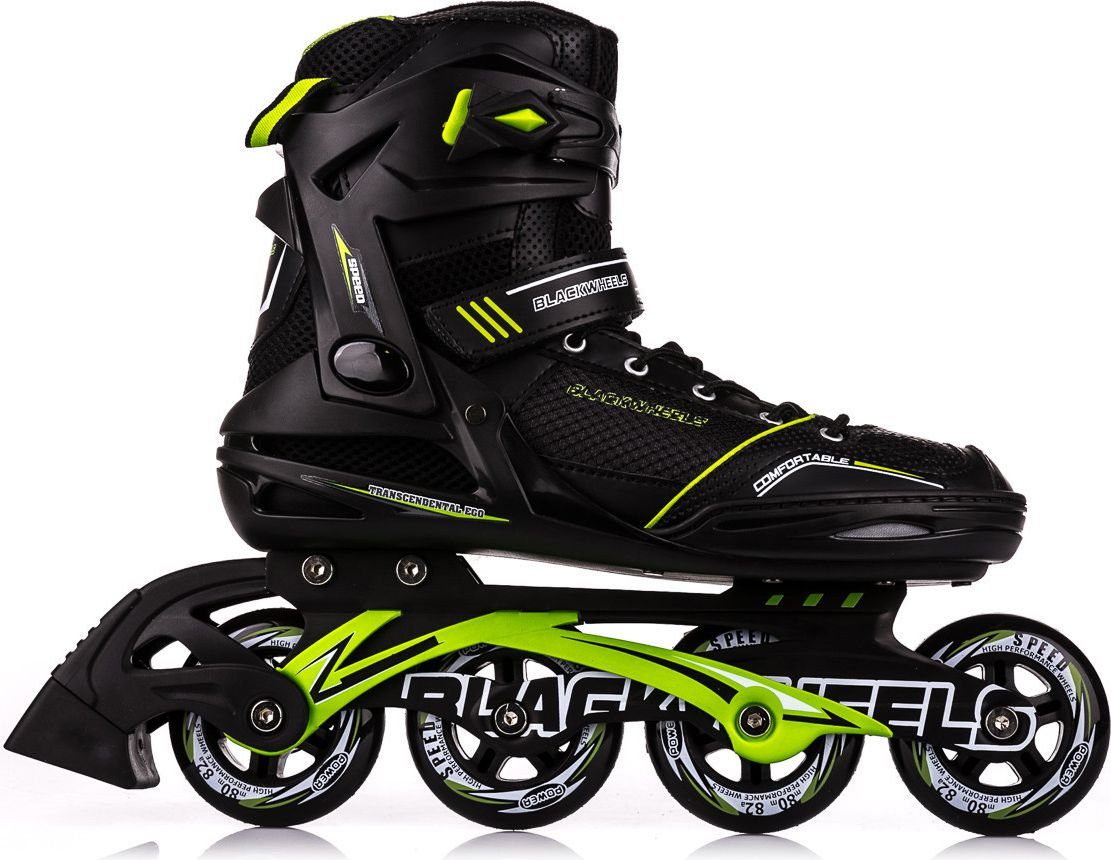 Blackwheels Black and green Slalom skates. 46 Skrituļslidas