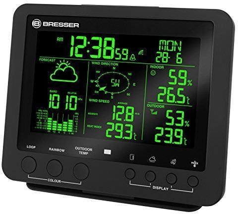 Bresser Weather Center 5-in-1 Colour barometrs, termometrs
