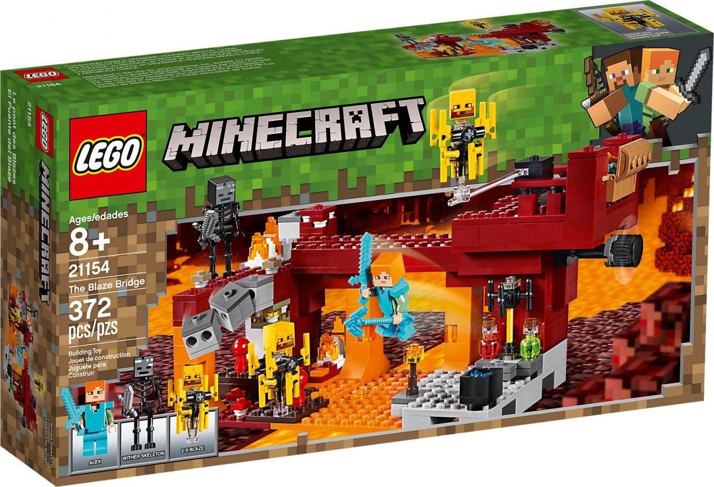 LEGO Bricks Minecraft The Blaze Bridge 21154 LEGO konstruktors
