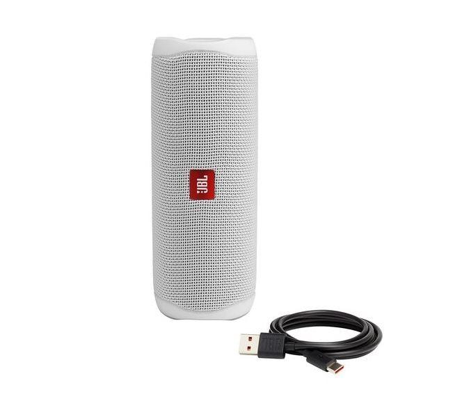 JBL Flip 5, Bluetooth speaker, IPX7, White pārnēsājamais skaļrunis