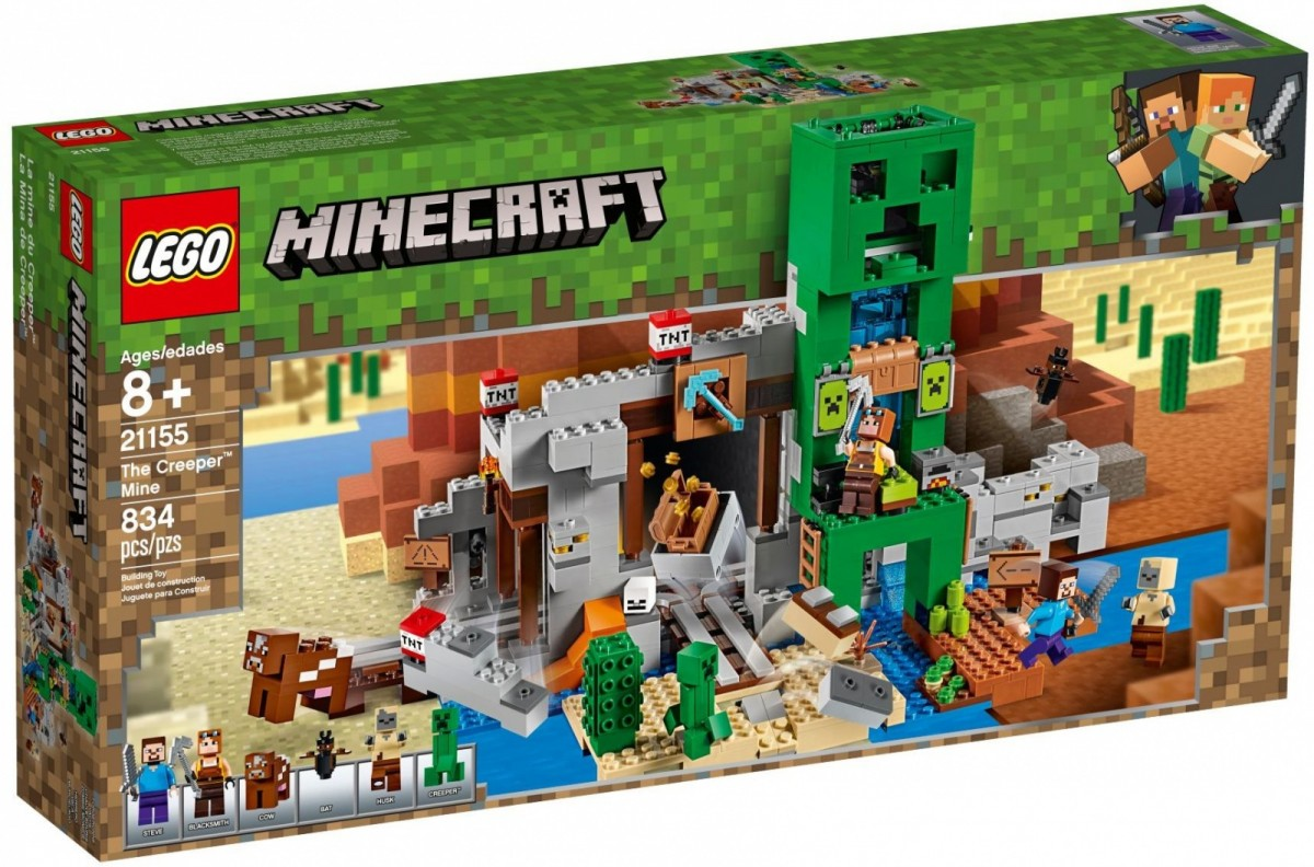 LEGO Minecraft 21155 The Creeper Mine LEGO konstruktors