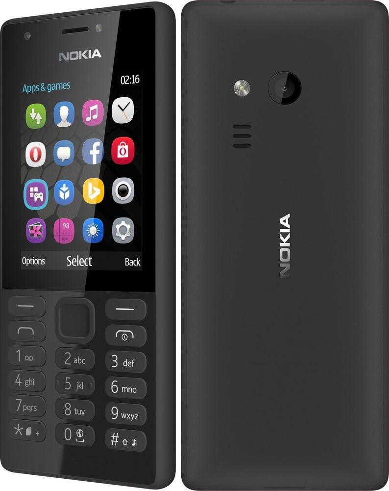 Nokia 216 Dual Sim Black Mobilais Telefons