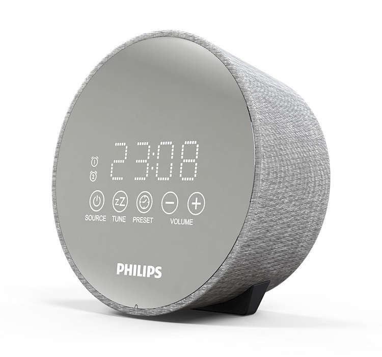 Philips Clock Radio TADR402/12 Gentle wake, Dual alarm function, Night light, USB port akustiskā sistēma