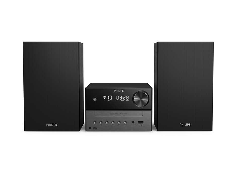 PHILIPS Mikro mūzikas sistēma ar Bluetooth, DAB+, USB, melna TAM3505/12 mūzikas centrs