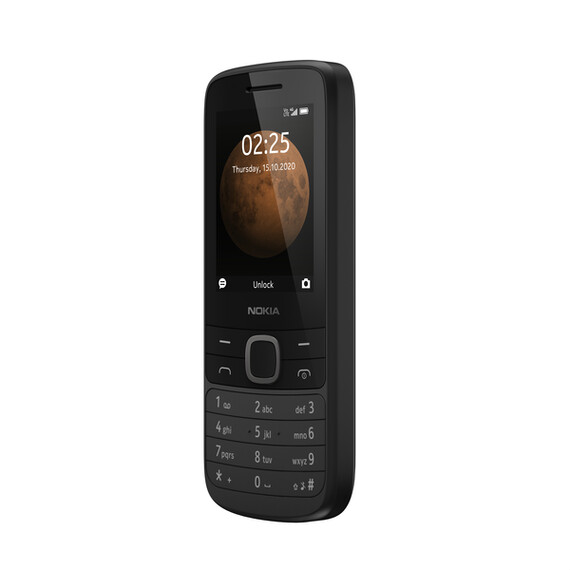 Nokia 225 4G Dual SIM TA-1316 Black Mobilais Telefons