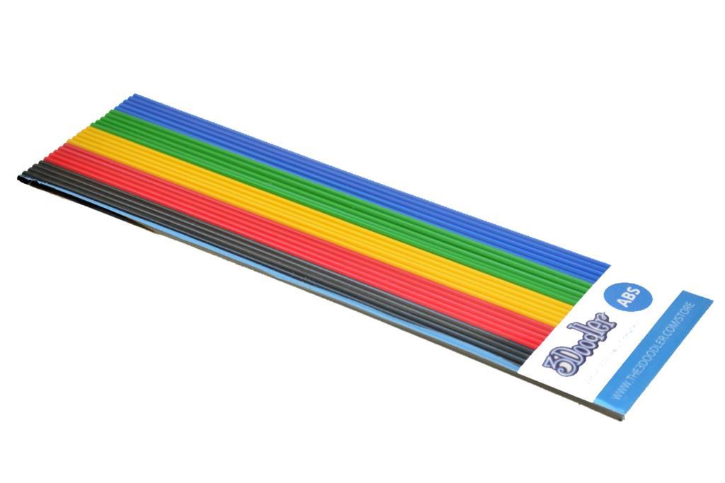 3DOODLER Filaments ABS to the pen 3Doodler - 5x5 pcs, BLK/RED/YEL/GRN/BLU biroja tehnikas aksesuāri