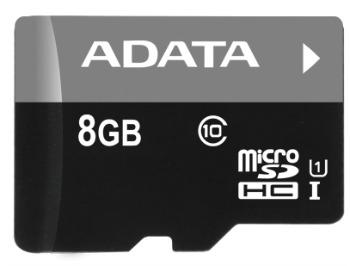 ADATA 8GB MicroSDHC UHS-I Class10 +ad atmiņas karte