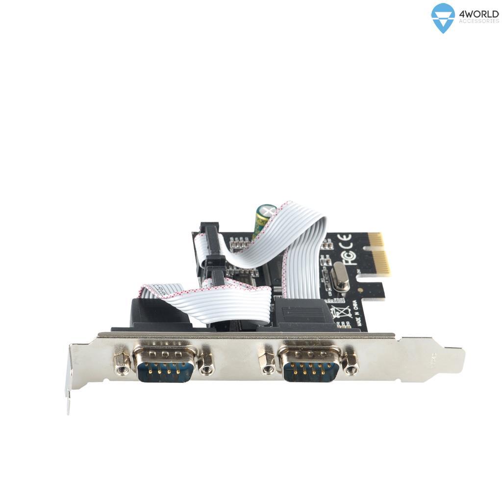 4World Controller PCI-E to Serial Port RS-232 x2 karte