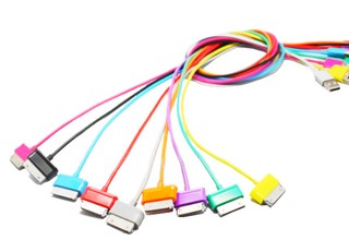 4World Cable USB 2.0 for Galaxy Tab transfer/charging 1.0m  black kabelis, vads