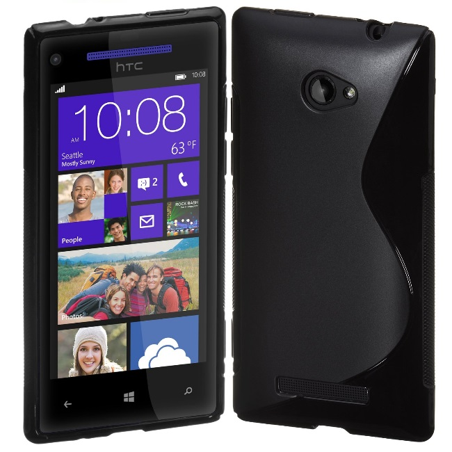Telone Back Case S-Case gumijots telefona apvalks HTC 8S A62 aksesuārs mobilajiem telefoniem