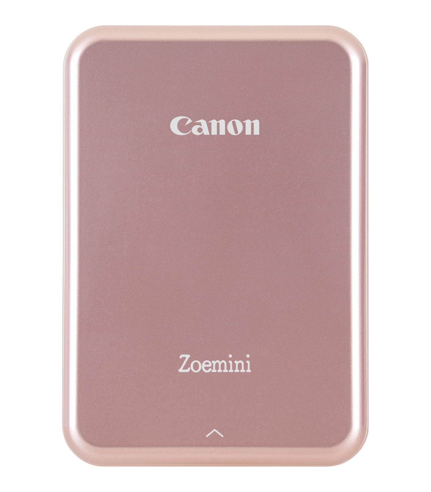 Canon Zoemini mobiler Fotodrucker Rose-Gold inkl. 10 Blatt Fotopapier 3204C004 (Zero-Ink, Randloser Druck, Bluetooth) printeris