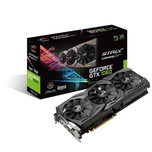 Graphics Card | ASUS | NVIDIA GeForce GTX 1060 | 6 GB | 192 bit | PCIE 3.0 16x | GDDR5 | Memory 8008 MHz | GPU 1518 MHz | Dual Slot Fansink video karte
