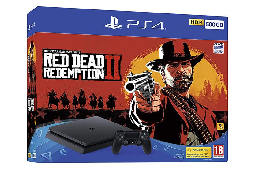 Sony PlayStation 4 Ps4 Console 500gb & Red Dead Redemption 2 Boxed spēļu konsole