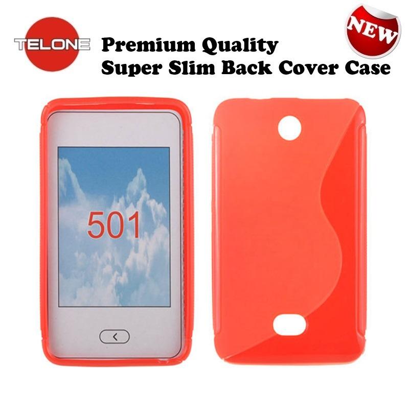 Telone Back Case S-Case gumijots telefona apvalks Nokia 501 aksesuārs mobilajiem telefoniem