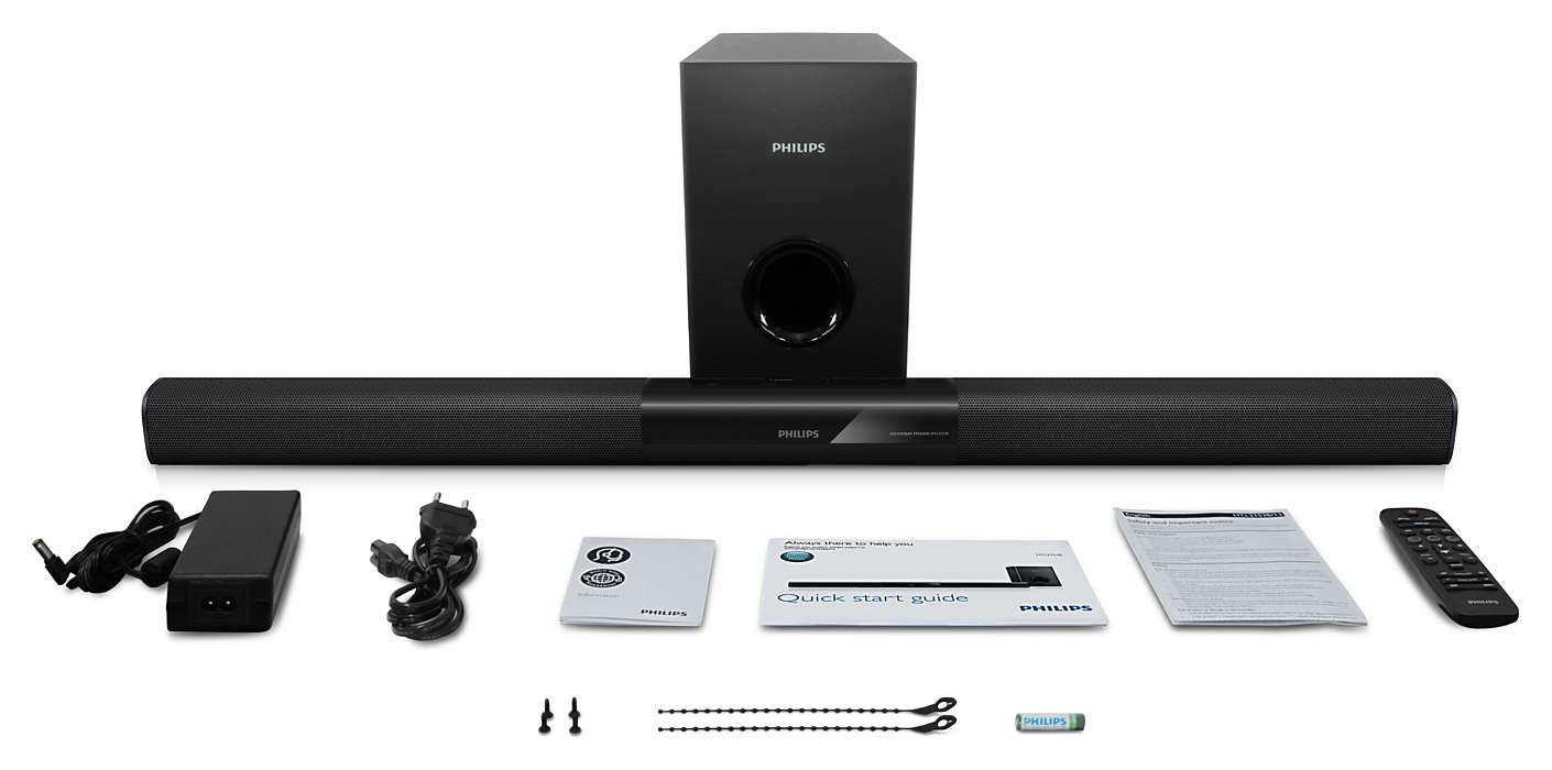 PHILIPS SoundBar skaļrunis ar Bluetooth HTL2163B/12 mājas kinozāle