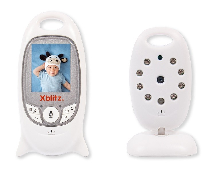 Baby monitor Xblitz Baby (Sound + image; 260m, 50m) Mazuļu uzraudzība