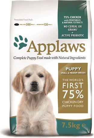 APPLAWS Puppy Small & Medium Breed Chicken 7.5kg barība suņiem