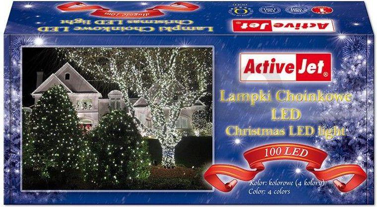 Lampki choinkowe Activejet LED na kabel multicolor - RGB 100szt. (AJE-CL10010RGBO) AJE-CL10010RGBO